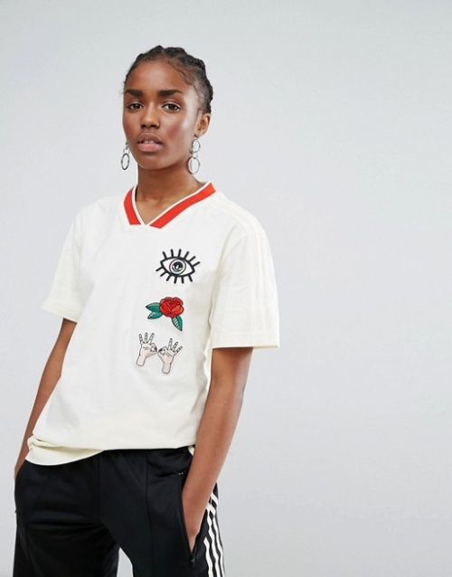 Adidas Originals - Embellished Arts - T-shirt oversize avec écussons