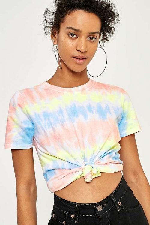 BDG - T-shirt d'été imprimé tie-dye