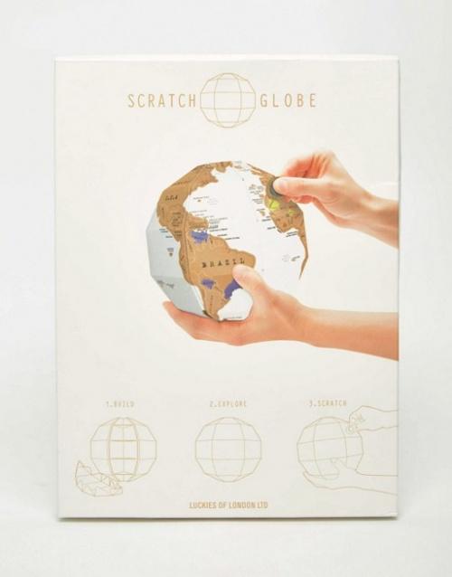 Luckies - Globe terrestre à gratter
