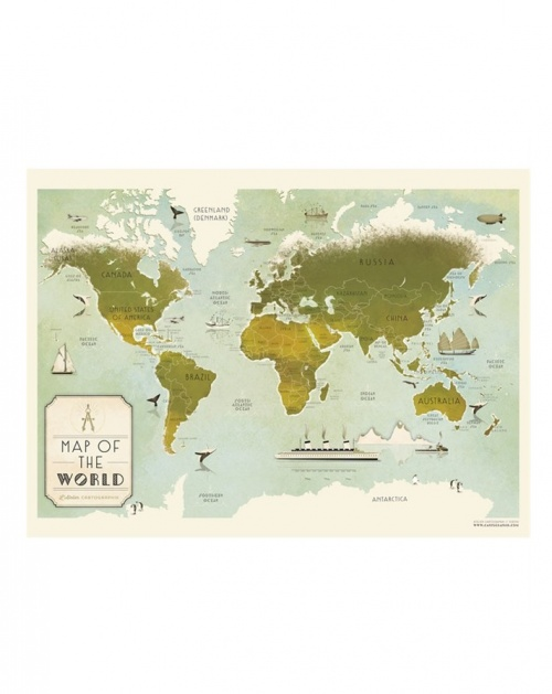 L'Atelier Cartographik - Mappemonde