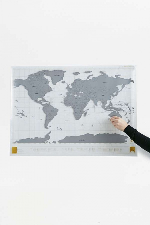 Urban Outfitters - Mappemonde transparente
