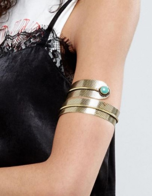 Reclaimed Vintage Inspired - Bracelet torsadé avec turquoise