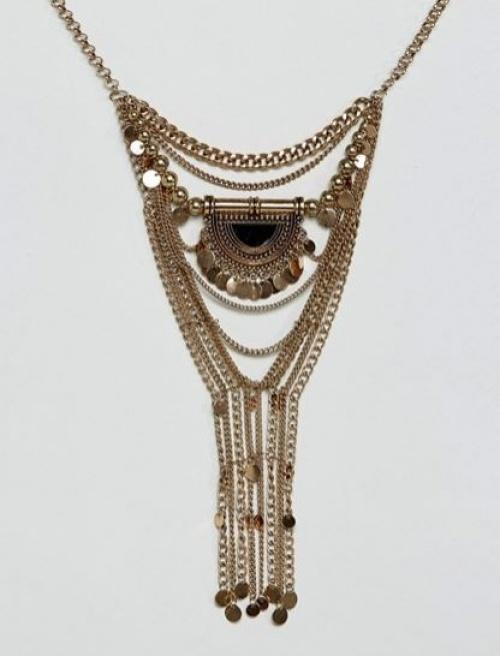 Reclaimed Vintage Inspired - Collier avec pendentif style bohème