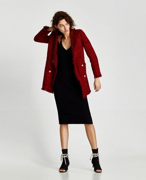 Blazer en tweed rouge
