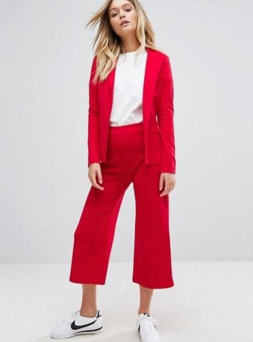 Boohoo - Ensemble jupe-culotte et blazer ajusté