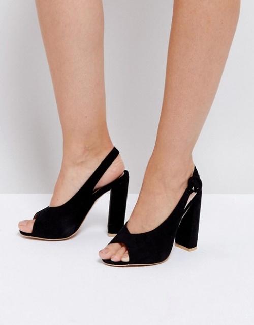 Missguided - Sandales peep toes à talons carrés et brides arrière
