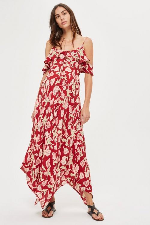 maxi robe à fleurs