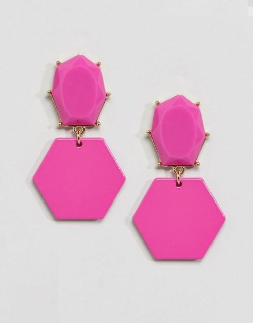 Asos  - Boucles d'oreilles color pop à joyaux géométrique
