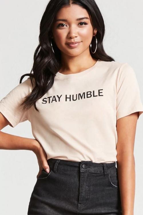 T-shirt imprimé stay humble