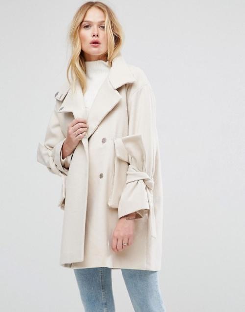 Asos - Manteau oversize avec manches nouées