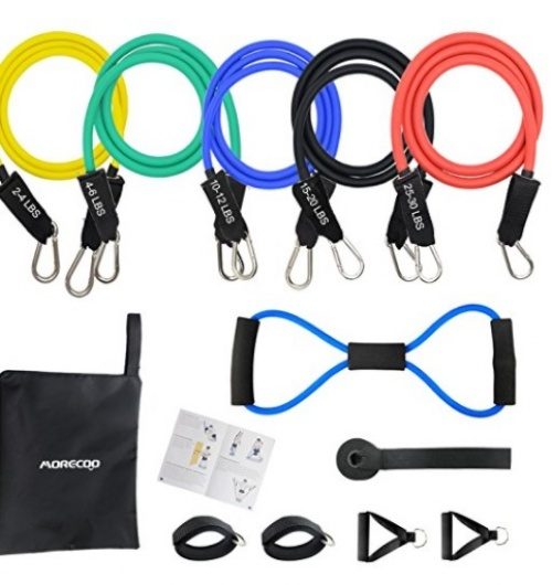 Morecoo - Kit Fitness Bande d'Exercice Musculation