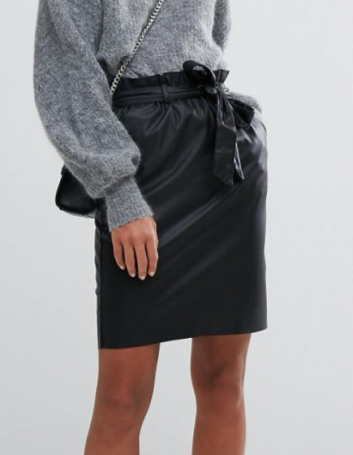 Vila - Mini-jupe en similicuir