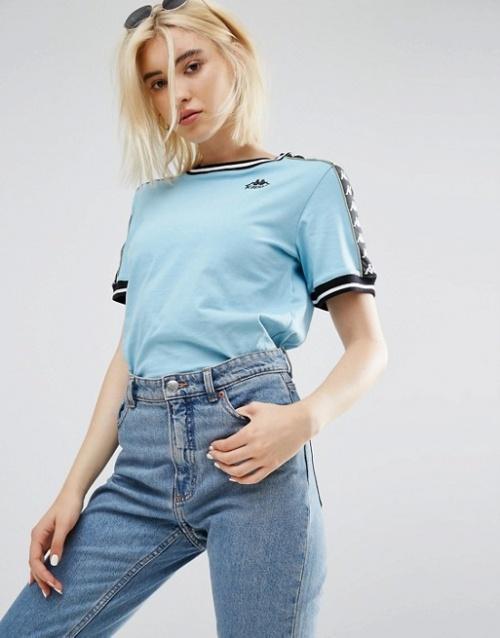 Kappa - T-shirt oversize avec logo sportswear sur les épaules