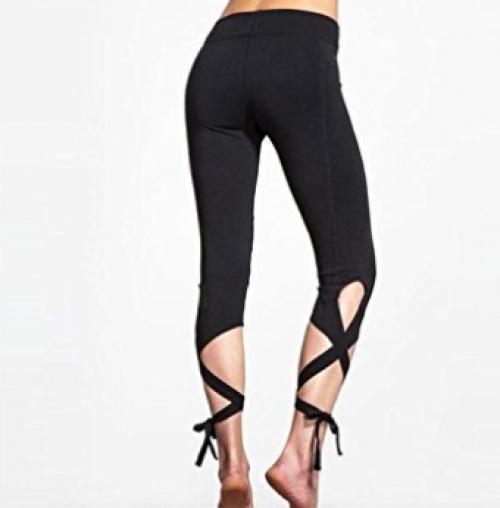 Legging noir noué