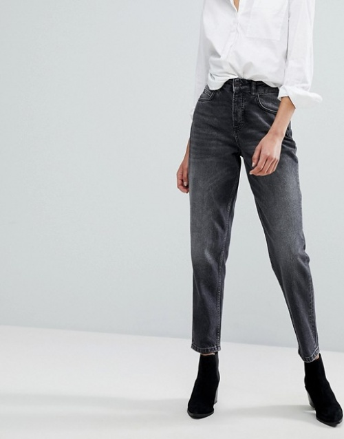 Selected - Jean mom taille haute