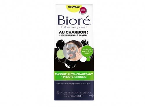 Masque Auto-Chauffant 1 Minute Chrono au Charbon - Bioré