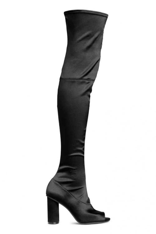 H&M - Cuissardes noires en satin