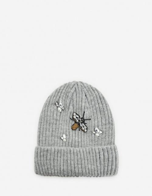 Stradivarius - Bonnet gris abeille