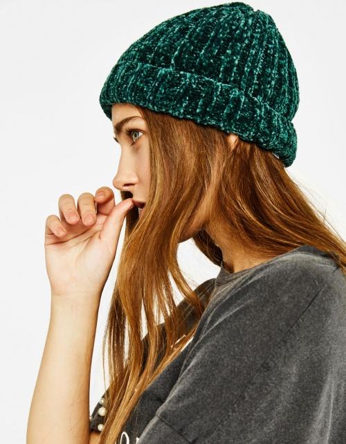 Bershka - Bonnets vert velours
