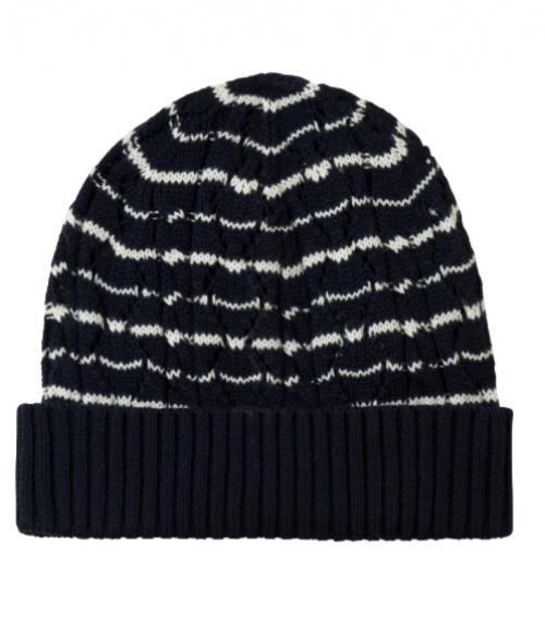 APC - Bonnet noir et blanc en maille