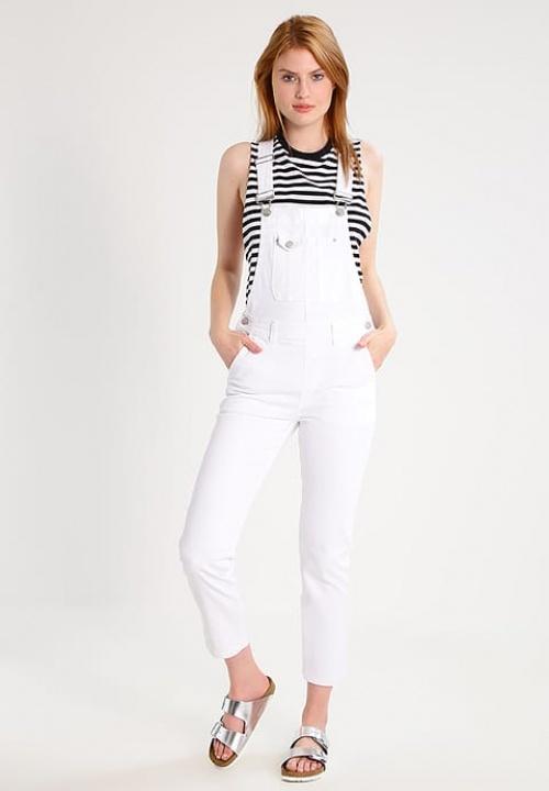 Pepe Jeans - Salopette blanche en jean