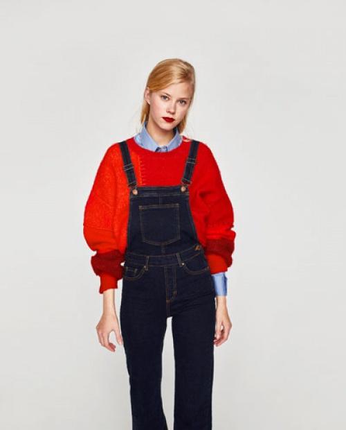Zara - Salopette en jean