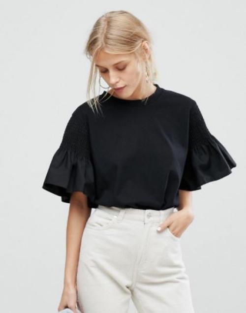 Current Air - T-shirt à manches volantées