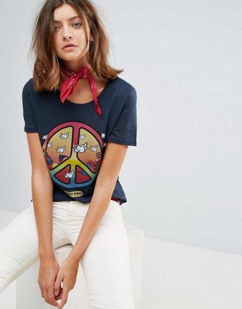 Wrangler x Peter Max - T-shirt imprimé symbole de la paix