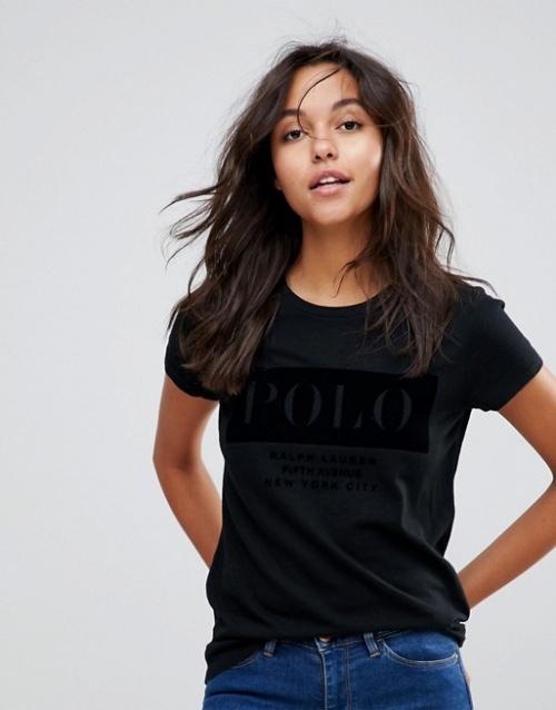 Polo Ralph Lauren - T-shirt avec logo en velours
