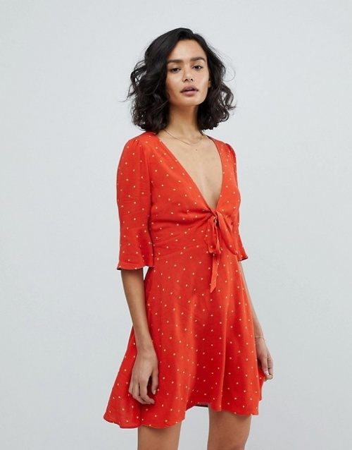 Free People - All Yours - Robe courte à pois