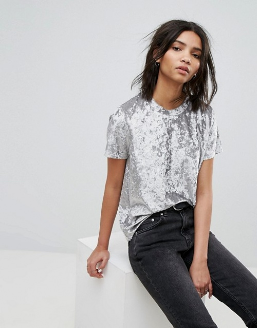 Dr Denim - T-shirt en velours frappé