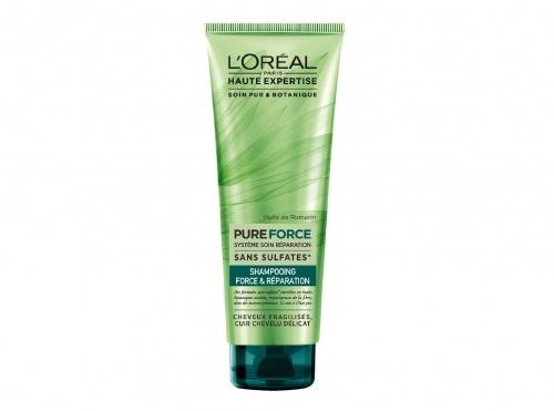L'Oréal - Haute Expertise Pure Force Shampoing Réparateur Fortifiant Cheveux Abimés 250 ml