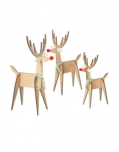 Fleux' - Set de 3 rennes décoratifs