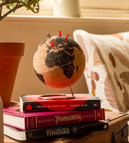 Mini globe en liège - SUCK UK