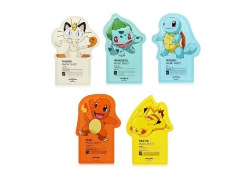 Tonymoly - Pack de 5 masques en tissu Pokemon