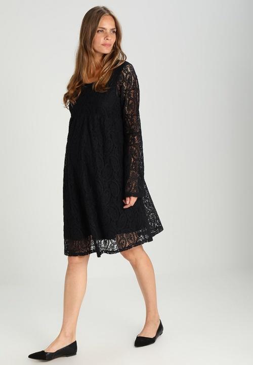 DP Maternity - Robe de maternité noire en dentelle