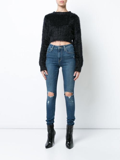 Levi's - Jeans skinny 721 à effet usé