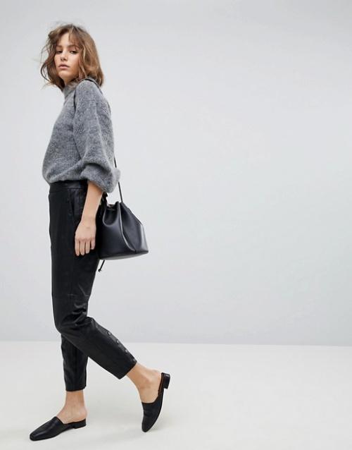 Selected Femme - Pantalon cuir