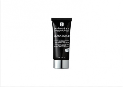 ERBORIAN - Black Scrub Masque exfoliant purifiant au charbon 15 ml