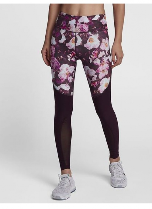 Legging bordeaux imprimé floral - Nike