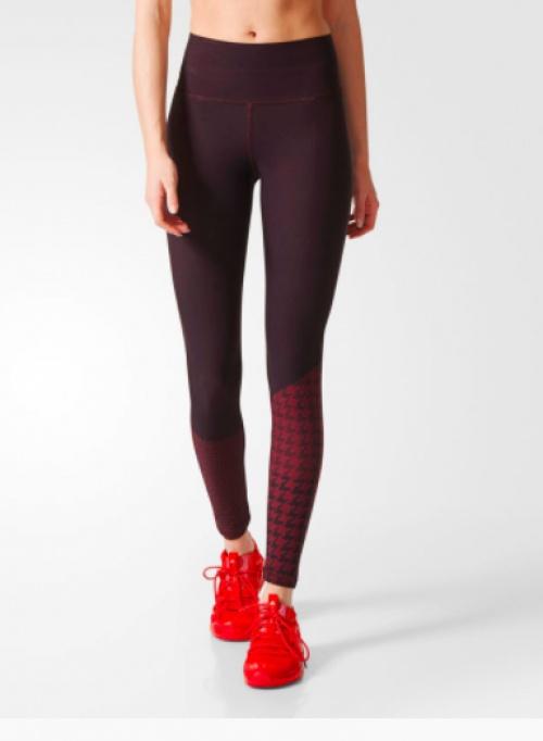 Legging prune pied de poule - Adidas by Stella McCartney