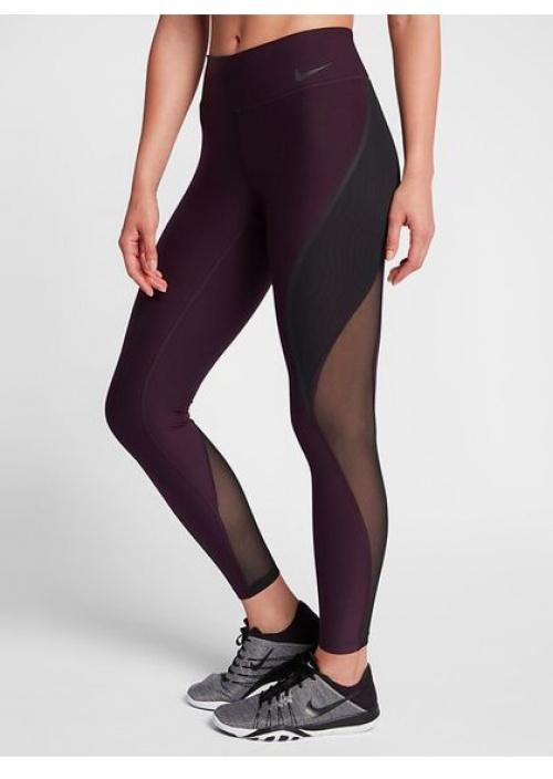 Legging prune rayures transparentes - Nike