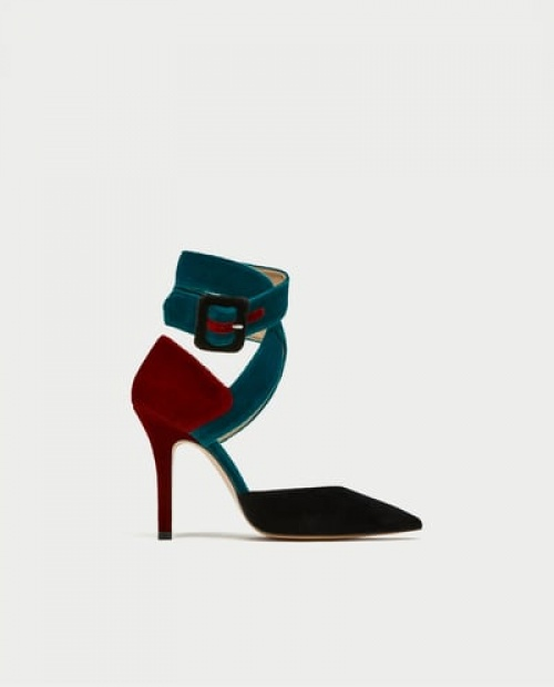 Zara - Chaussures à talons nouées