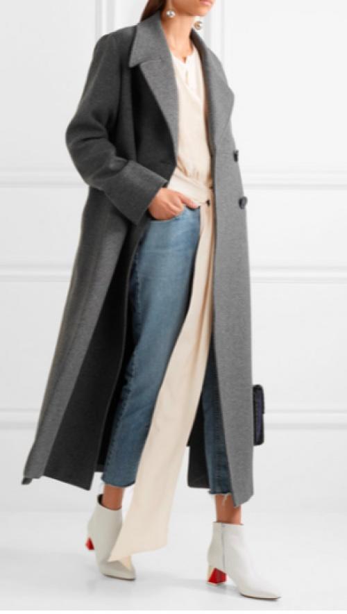Stella McCartney - Manteau oversize en feutre de laine