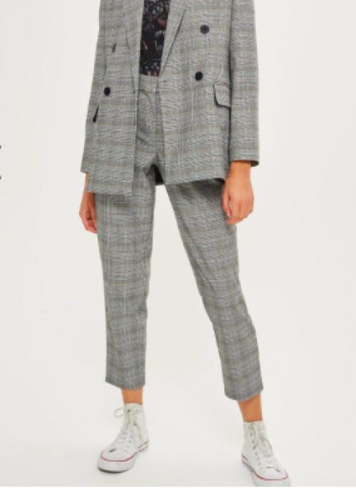 Topshop - Pantalon fuselé à carreaux