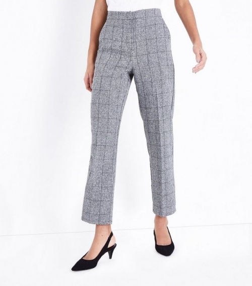 New Look - Pantalon de costume gris à carreaux