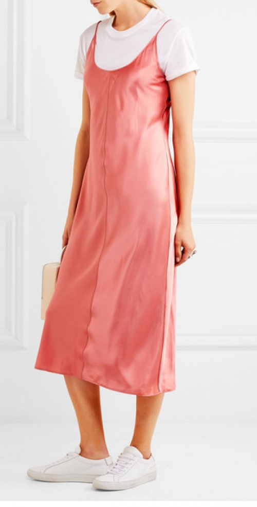 T By Alexander Wang - Robe en satin de soie