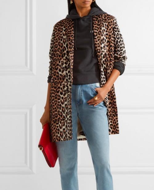 Ganni - Manteau imprimé léopard