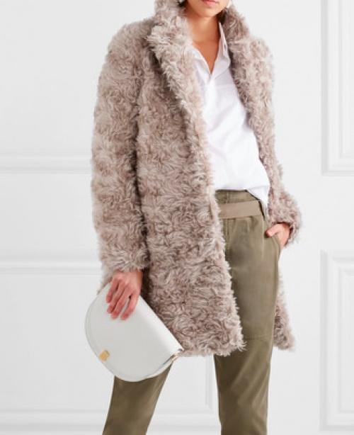 Stella McCartney - Manteau en fausse fourrure