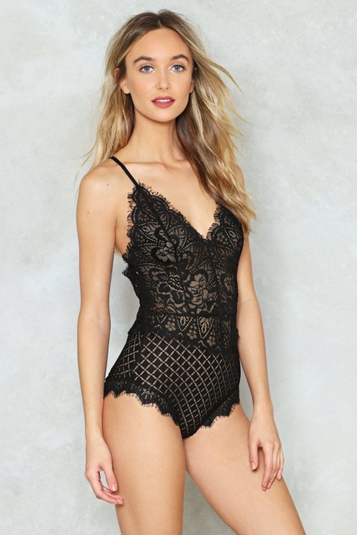 Nasty Gal - Body en dentelle
